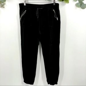 Justice   Black Zippered Joggers, 16 1/2